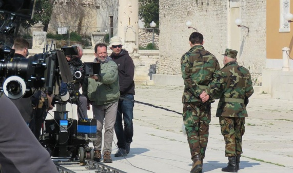 "Filming of ""General"" in Zadar"